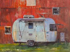 "I'm honored that my painting of our Airstream Bambi Sport 16', ""Bambi & the Barn"" (oil on linen, 12""x16""), was accepted into the American Impressionist Society, Inc.'s 2018 Small Works Showcase at the Greenwich House Gallery in Cincinnati. #patricksaunders #patricksaundersfineart #patricksaundersfinearts #patsaunders #pleinairstreaming #saundersfinearts #airstream #airstreamlife #liveriveted #myliverivetedlife #airstreamart #americanimpressionistsociety"