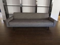 $3,600 great trim lines, natural wool and nuetral grey weave easy to compliment with and ready to go. 1960 Italian Convertable Couch