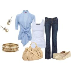 casual work, created by ohsnapitsalycia on Polyvore