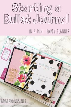 How to start a bullet journal (Bujo) in a MINI Happy Planner by MAMBI.