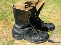 1957 PANCO Combat Boots / US Men size: 9 1/2 W / Made in USA / Used / Very Good Condition