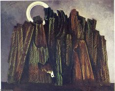 Dark forest and bird - Max Ernst. Titulo original: Forêt sombre et oiseau Magritte, Max Ernst Paintings, Horst Janssen, Dada Artists, Hans Thoma, George Grosz, Francis Picabia, Dark Forest, Magical Forest