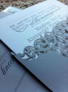 Gorgeous laser cut invitations!