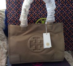 NWT Tory Burch Nylon Mini Ella Tote Logo Bag Style No.28159646 +Tory Gift Bag #ToryBurch #TotesShoppers