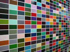 1024 Colors by Gerhard Richter at the Pompidou in Paris.