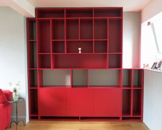 Built-in bookcase Built In Bookcase, Shelving, Furniture Design, Building, Projects, Home Decor, Shelves, Log Projects, Shelving Racks
