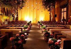 Decoração de casamento com hortências. #casamento #flores #hortênsias