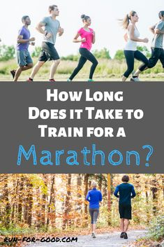 Runners often wonder how long it takes to train for a marathon. It depends on your fitness level, running experience, and goals for the race. #marathontraining #marathonschedules #marathonrunning Marathon Training Program, Marathon Training For Beginners, Marathon Tips, First Marathon, Running For Beginners, Marathon Running, How To Start Running, Running Tips, Race Training