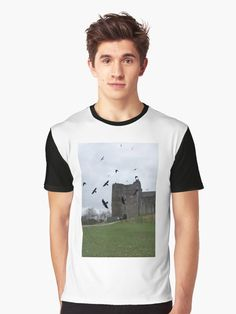 'Doune Castle, Scotland' T-Shirt by David Rankin Timber Roof, Castle Scotland, Tshirt Colors, Female Models, 19th Century, Tv Series, Heather Grey, Classic T Shirts, Tank Man