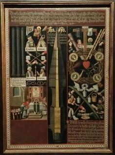 Heilige Lanze mit Arma Christi und Gregorsmesse. (Nürnberg 1597). Kolumba Museum, Köln.