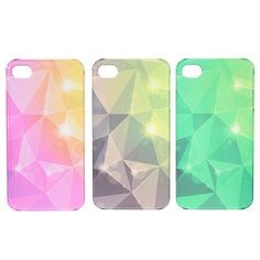 Ultra Thin Clear Water Cube Hard Back Protected Case For iPhone 4 4S