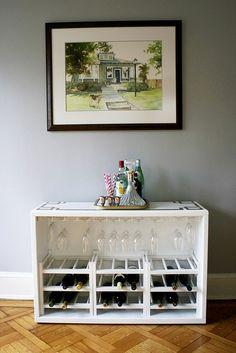 awesome DIY bar cart from a dresser