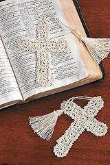 100 Crocheted CROSS BOOKMARKS religious
