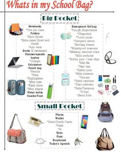 Online shopping for Girls' Back-to-School Essentials from a great selection at Clothing, Shoes & Jewelry Store. High School Hacks, Life Hacks For School, School Study Tips, School Essay, Back To School Tips, Back To School Emergency Kit, Back To School Highschool, Middle School Hacks, Back To School Checklist