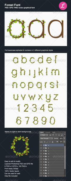 Forest Eco Graphical Font for Photoshop and Illustrator    http://graphicriver.net/item/forest-font/4365478?ref=matu
