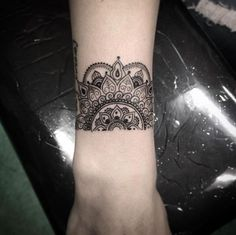 100 beautiful tattoos for ladies. Mandala+bracelet+by+Isaiah+Negrete