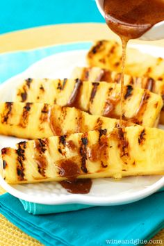 Grilled Pineapple with Cinnamon Honey Drizzle | www.wineandglue.com ...