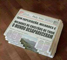 Muito breve vai sair uma notícia que um povo desapareceu. Jesus está Voltando!!