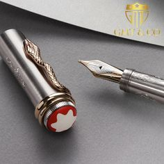 The Montblanc Rouge et Noir Solitaire Serpent LE 1906 Fountain pen is inspired by one of the first fountain pens made by Montblanc, which was developed in Take the history in your hand Calligraphy Pens, Chinese Calligraphy, Luxury Pens, Fine Pens, Stationery Pens, Writing Art, Dip Pen, Fountain Pen Ink, Pen And Paper