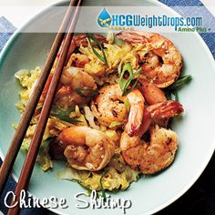 Chinese Shrimp - Chinese Shrimp 3.5 ounces raw shrimp, peeled with tails removed prior to weighing 5 Tablespoons Basic Chicken Broth (see recipe) 2 cups shredded cabbage Dash of onion salt Dash of Chinese 5 Spice 1 garlic clove, minced ½ scoop KAL stevia powder optional – scallions for garnish