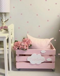 Baby Bedroom, Baby Room Decor, Girls Bedroom, Bedroom Decor, Diy Wooden Projects, Wooden Diy, Home Office Decor, Home Decor, Fashion Room