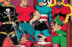 A collection of anti-Nazi comic book covers from the is one of the most relevant books of the year Best Cartoons Ever, Cool Cartoons, Comic Book Artists, Comic Book Covers, A Comics, 1940s, Books, Collection, Ww2