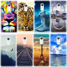 Ferris Wheel Animals Pattern Soft TPU Case For Xiaomi Redmi 3S 3 Pro Note 3 Note 4 Painted Protective Cover Cases Fundas Shell