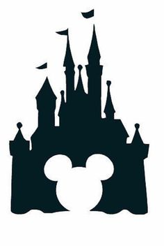 Disney Castle with Mickey Mouse vinyl by ShesheVinylandThings Disney Diy, Art Disney, Disney Kunst, Disney Crafts, Disney Love, Mickey Mouse, Disney Vacations, Disney Trips, Silhouettes Disney