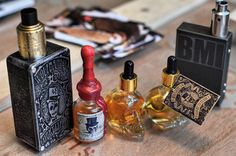 """Coming soon to Vape Emporium #WolfbanesLucky13Elixir.  We present: """"Cognac & Custard Cream""""  Luscious and decadent cognac dipped and rolled in cream and custard. Max VG 3mg presented in 33ml limited edition vintage Victorian apothecary bottles. """"Wall Of Voodoo"""" Fresh Banana Walnut Bread Dipped in the Finest Luxurious Cognac. Max VG 3mg presented in stunning 33ml skull bottles.  Available in store at #VapeEmporium Hampstead and Richmond. Find out more on our website: http://ift.tt/1fpCXFe"""