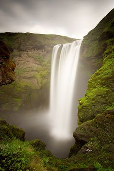 I want to go here! Skogafoss, Iceland.   by Sam Mannaerts