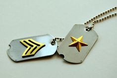 Best friends since childhood, Bucky Barnes and Steven Rogers were inseparable on both schoolyard and battlefield. And on these dog tags, too,