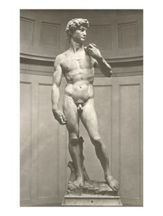 The reason David's hands look big in comparison to his head, is because Michelangelo created the sculpture to be viewed from below, so it looks proportioned from the ground. It's all about perspective.
