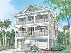 Eplans NeoClassical House Plan - The Summercrest - 2228 Square Feet and 3 Bedrooms from Eplans - House Plan Code HWEPL06837