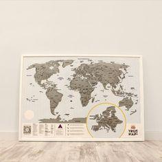 Скретч карта мира True Map Plus