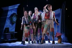 Lost boys. Love the patchwork details  Peter Pan production photos by lyceumtheatre, via Flickr  By Douglas McBride
