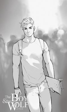 """Sketchy version of The Wolf in casual clothes ! He's just a boy, after all ! ;D Love this pic, he looks less """"badass"""", more normal lol; Plus his hair are less messy haha Hope you like him this way ..."""