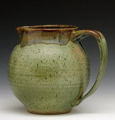 Pitcher in Forest Gold Glaze