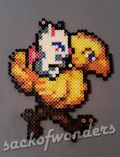 Chocobo & Moogle FINAL FANTASY MAGNET - Figure Perler Bead Pixel Art Car Hanger
