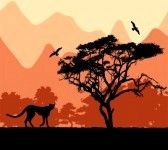 animaux sauvages en Afrique. stock photography