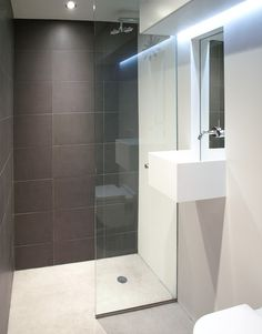 Simple Mordern Bathrooms these are the most important things which a bathroom should offer no matter how big or how small it is Beautifuly Simple Love The Shower Tile And Curbless Shower Entry And Wall Modern Small Bathroomsnarrow