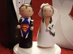 Custom Superhero And His Bride Cake Topper Superman Thor Captain America Batman Ironman Personalized For You Via Etsy