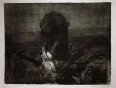 Kathe Kollwitz  -  After the Battle ( Peasants' War)