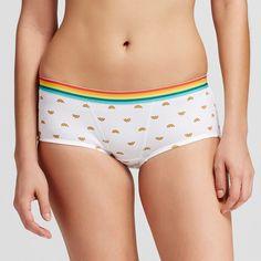 Women's Cotton Rib Boyshorts Fresh White XL - Xhilaration