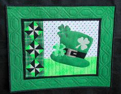 St. Pat's May '14 Machine applique, piecing, and quilting.