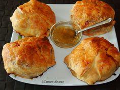 Cocinando en Altorreal: HAMBURGUESAS EN HOJALDRE CON QUESO DE CABRA