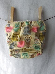 medium cloth diaper cover nursery cats by stuffyourfluff on Etsy, $13.00