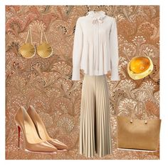 """""""cinnamon"""" by marifimarina ❤ liked on Polyvore featuring Givenchy, Chloé, Christian Louboutin, Victoria Beckham, Pasquale Bruni and ChloBo"""