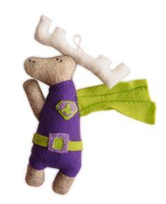 handmade felt moose, designed an made by U. Karasiewicz