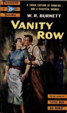 1953; Vanity Row by W.R. Burnett. Cover art by Harry Schaare