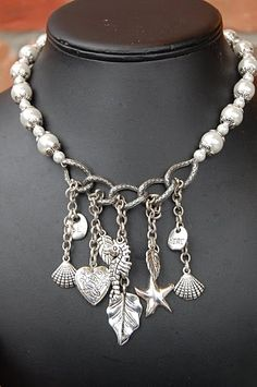 Charm necklace - clumsy and heavy, but on the right track for clear display
